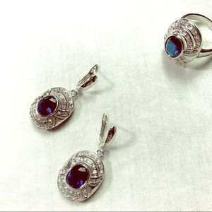 New Sterling Silver Boutique Jewelry Set